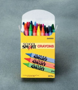 School Smart Standard Non-Toxic Crayons - 8.9cm x 0.8cm - Set of 24 - Assorted Colours