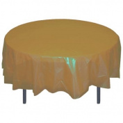 Gold Round plastic table cover