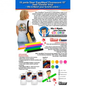 10 Yards Siser Easyweed Fluorescent Heat Transfer Vinyl (Mix & Match your favourite colours) .