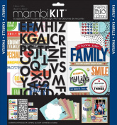 me & my BIG ideas SRK-138 I Love My Family Mambi Scrapbook Kit, 30cm by 30cm