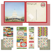Scrapbook Customs Themed Paper and Stickers Scrapbook Kit, Washington D.C.