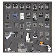 Tinksky A Set of 32pcs Domestic Sewing Machine Presser Feet Set for Brother Babylock New Home Janome Elna Toyata Singer NewHome