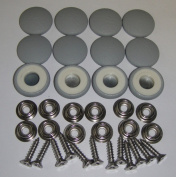 Set Of 12 Dura Snap Upholstery Buttons #36 Medium Grey Vinyl