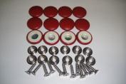 Set Of 12 Dura Snap Upholstery Buttons #36 Dark Cherry Red Vinyl