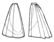 1897 Ladies' Eight-Gore Skirt Pattern