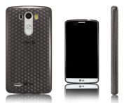 Xcessor Diamond - Flexible TPU Gel Case For LG G3. Grey / Transparent