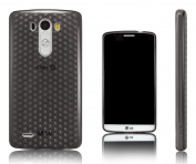 Xcessor Diamond - Flexible TPU Gel Case For LG G3. Grey / Transparent