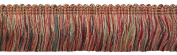 5 Yard Value Pack - RED, LIGHT ROSE Baroque Collection Brush Fringe 4.4cm Long Style# 0175BB Colour