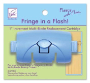 Fleece with Flair Fringe in a Flash 2.5cm Increment Multi-Blade Replacement Cartridge JT-186