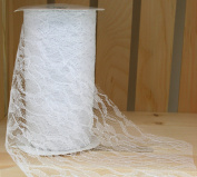 White Lace Ribbon 15cm x 10 yards