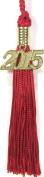 Red KinderGrad Tassel with 2015 Gold Charm