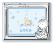 Silver Touch USA Sterling Silver Picture Frame, Baby Boy, 10cm X 15cm