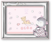 Silver Touch USA Sterling Silver Picture Frame, Baby Girl, 10cm X 15cm