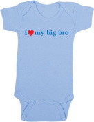 I Love My Big Bro / I Love My Big Sis Baby Clothing - Baby Shower Gift from Older Sibling