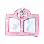 Nat and Jules Pink Handprint and Footprint Frame
