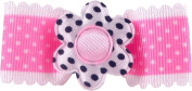 Bow Allure Classic Naples No Slip Hair Bow Clip Toddler Girls Hair Clip, Pink, White