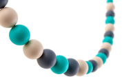 Chew-Choos 'Playdate' Silicone Nursing and Teething Necklace - Modern Eco-friendly Baby Teether
