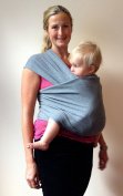 Heart Felt Baby Wrap Carrier in Soft Grey ~ Organic Cotton for Safe, Comfortable Baby Wearing. Free Shipping and Detailed, Easy to Follow Instructions! Babies Feel More Secure and Bond Better.