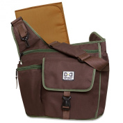 Nappy Dude Sport Bag by Chris Pegula - Brown Sling Messenger Nappy Bag