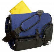 Nappy Dude Sport Messenger Nappy Bag by Chris Pegula - Navy