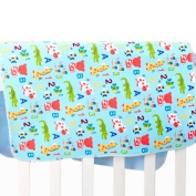 Mixmax Baby & Toddler Waterproof Bamboo Fibre Flannel Washable Nappy Changing Mat Pad for Baby Cribs,stroller