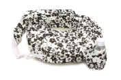 Zenoff Products Nursing Pillow Slipcover, Evening Bloom, Grey, White, Black