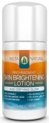InstaNatural Skin Brightening Lotion - With 20% Vitamin C, 20% Hyaluronic Acid, Niacinamide, Glycolic Acid, CoQ10 & Alpha Arbutin - Powerful Anti-Ageing Daily Moisturiser Cream for Face, Eyes and Body - 50ml
