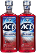 ACT Alcohol Free Anticavity Fluoride Rinse-Cinnamon-530ml, 2 pk