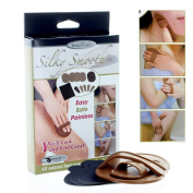 Silky Smooth Away Hair Removal Exfoliator Kit Removes Hair Arms Legs Lip Body !