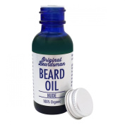 Best Beard Oil & Conditioner, 100% Pure Organic Oils, Unscented, Stop Itch, No More Beard Dandruff, Soften Coarse Hair, Doesn't Clog Pores, Original Beardsman, Satisfaction GUARANTEED