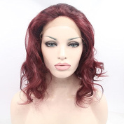 Kuafu Sexy Brown Bobo Curly Synthetic Lace Front Wig Hair