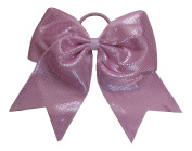 "New ""Sparkle Dots Light Pink"" Cheer Bow Pony Tail 7.6cm Ribbon Girls Hair Bows Cheerleading Dance Practise Football Games Competition Birthday"