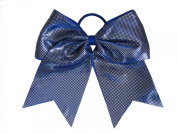"""New """"Sparkle Dots Royal Blue"""" Cheer Bow Pony Tail 7.6cm Ribbon Girls Hair Bows Cheerleading Dance Practise Football Games Competition Birthday"""