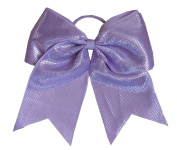 "New ""Sparkle Dots Light Purple"" Cheer Bow Pony Tail 7.6cm Ribbon Girls Hair Bows Cheerleading Dance Practise Football Game Competition Birthday"