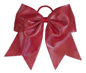 """New """"Sparkle Dots Red"""" Cheer Bow Pony Tail 7.6cm Ribbon Girls Hair Bows Cheerleading Dance Practise Football Games Competition Birthday"""