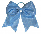 """New """"Sparkle Dots Light Blue"""" Cheer Bow Pony Tail 7.6cm Ribbon Girls Hair Bows Cheerleading Dance Practise Football Games Competition Birthday"""