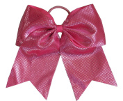 "New ""Sparkle Dots Hot Pink"" Cheer Bow Pony Tail 7.6cm Ribbon Girls Hair Bows Cheerleading Dance Practise Football Games Competition Birthday"