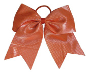 "New ""Sparkle Dots Orange"" Cheer Bow Pony Tail 7.6cm Ribbon Girls Hair Bows Cheerleading Dance Practise Football Games Competition Birthday"