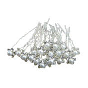 20Pcs Pearl Flower Rhinestone Crystal Hair Clip Pins Bridesmaid for Wedding Bridal