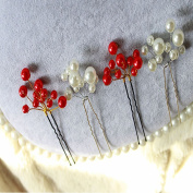Acxico Simple Handmade U Type Pearl Hairpin Bridal Hair Decorations