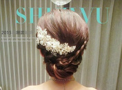 Wedding Flowers Mesh Diamond Bridal Headdress Hair Styling Accessories Head Flower Show Jewellery Headdress Headwear Tiara