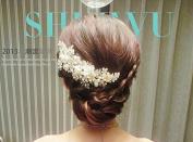 Wedding Flowers Mesh Diamond Bridal Headdress Hair Styling Accessories Head Flower Show Jewellery Headdress Headwear Tiara