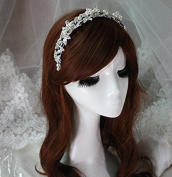 Crystal Diamond Hair Head Band Wear Pearl Rhinestone Jewellery Headdress Headband Tiara Coronal