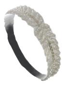 Women's Bead & Crystal Elastic Fashion Headband Black Mix