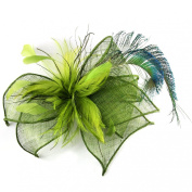 Peacock Feathers Dramatic Occasion Hat for Women, Stunning Feather Fascinator for weddings or the Races, Stunningly Stylish Elaborate Sculptured Headwear in Two colour options.
