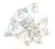 Exquisite Bridal Prom Elegant Austrian Crystal Mesh Flower & Leaves Swirl Hair Comb