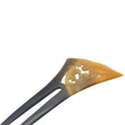 Buffalo Horn Hair Pin Hairpin Asian Symbol Barette