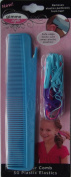 Gimme Style Cutter Comb with Elastics, Turquoise Blue