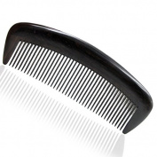 Handmade Premium Quality Natural Ebony Wood (Black Sandalwood) Massage Comb, No Static Wooden Comb 16cm