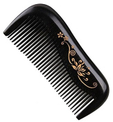 Handmade Premium Quality Natural Ebony Wood (Black Sandalwood) Massage Comb, Pocket Wooden Comb 11cm